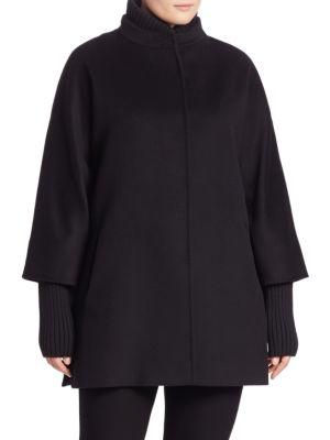 Wool Layered Coat plus size,  plus size fashion plus size appare