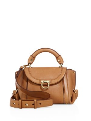 Soft Sofia Small Leather Top Handle Bag