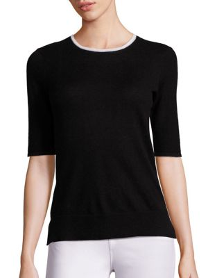 COLLECTION Elbow Sleeve Cashmere Sweater