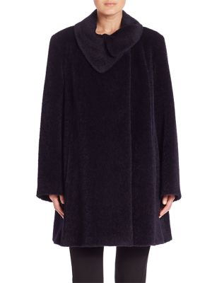 Wool & Alpaca Coat plus size,  plus size fashion plus size appare