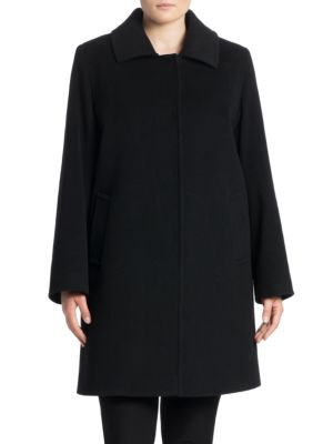 Single-Breasted Spread Collar Coat plus size,  plus size fashion plus size appare