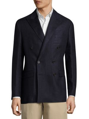 Twill Double Breasted Coat