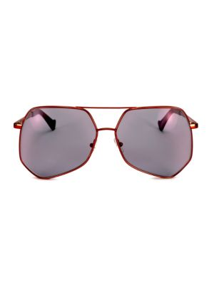MEGALAST 61MM THE WIRE HEXAGON AVIATOR SUNGLASSES