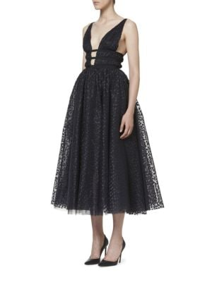 Metallic Dot Cocktail Dress