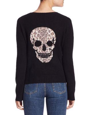 Raj Leopard Skull Cashmere Sweater
