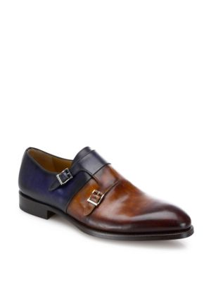 Leather Double Monkstrap Loafers