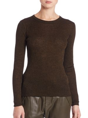 Shimmer Ribbed Knit Sweater