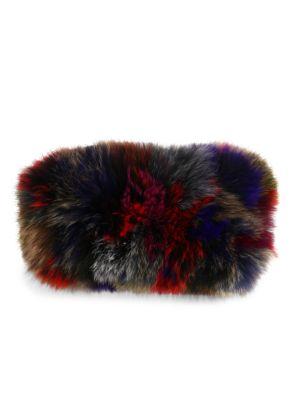 Multicolor Fox Fur Headband