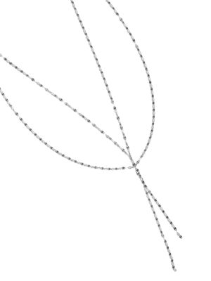 Mega Blake 14K White Gold Lariat Necklace