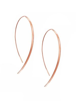Hooked On Hoop Small 14K Rose Gold Flat Hook Earrings