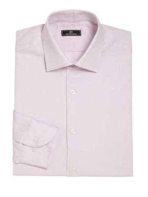 Diamond Patterned Dress Shirt