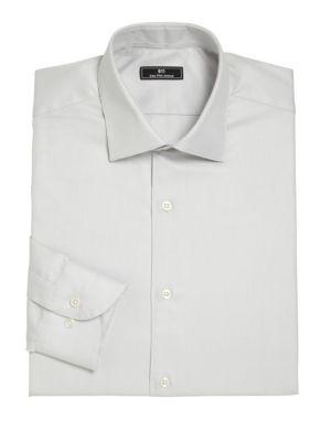 Horizontal Fine Striped Dress Shirt