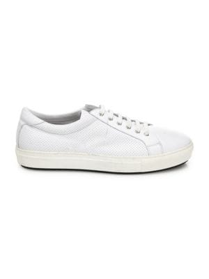 Perforated Leather Low Top Sneakers