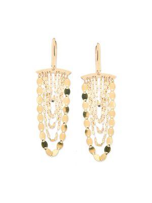 Small Nude 14K Yellow Gold Cascade Earrings