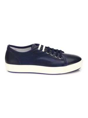 COLLECTION Dual Lace Up Leather Sneakers
