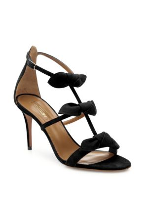 St. Tropez Tied Suede Sandals