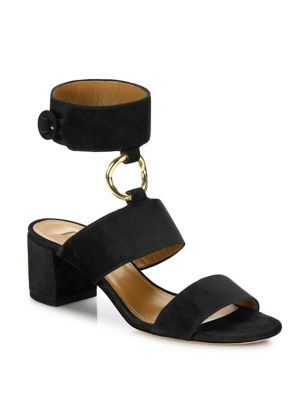 Safari Suede Block Heel Sandals