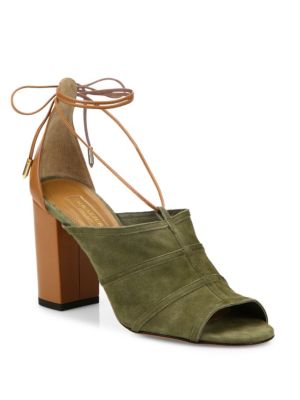 Very Eugenie Suede Tie-Up Sandals