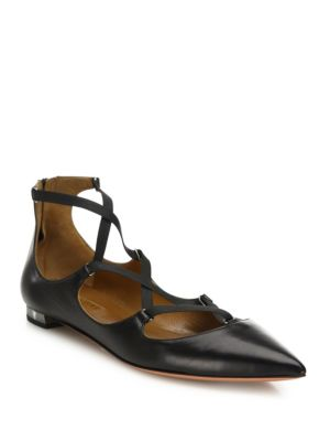 Mischa Leather Point Toe Flats