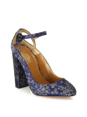 Sweet Thing Stardust-Print Block Heel Pumps