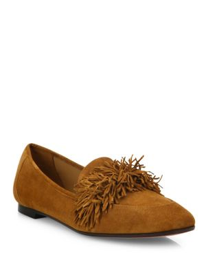 Wild Suede Loafer Flats