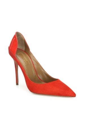 Fellini Suede & Patent Leather Pumps