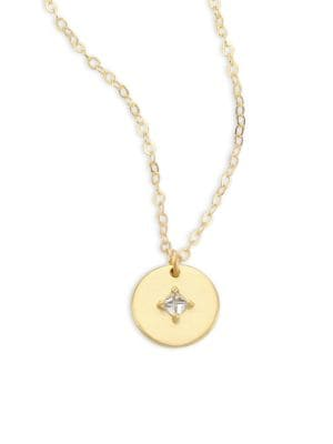 Orion Diamond & 14K Yellow Gold Pendant Necklace