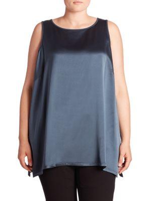 Silk Satin Tunic plus size,  plus size fashion plus size appare