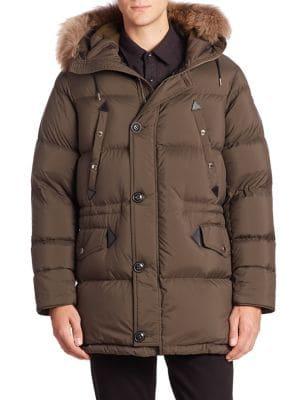 Hartson Bensen Raccoon-Trimmed Puffer Coat