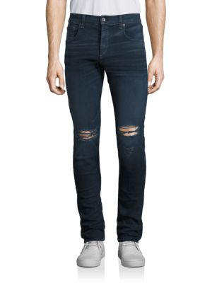 Fit 1 Stretch Skinny Distressed Jeans