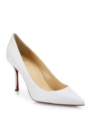 christian louboutin female decoltish 85 leather point toe pumps