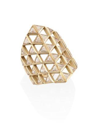 Chloe Diamond & 18K Yellow Gold Shield Ring