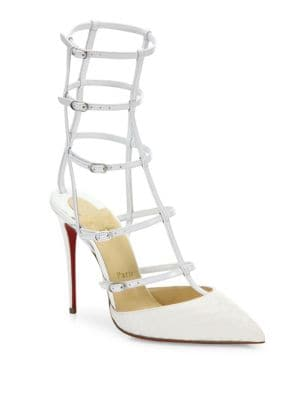 Kadreyana 100 Leather Cage Pumps