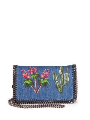 Mini Falabella Embroidered Denim Crossbody Bag