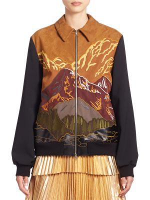 Mountain Scenery Zip Bomber Jacket