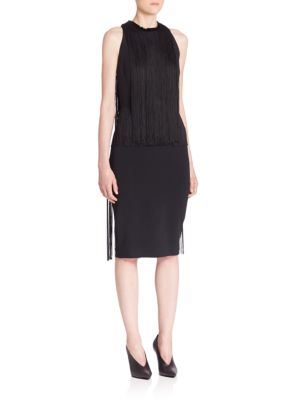 Racerback Fringe Dress