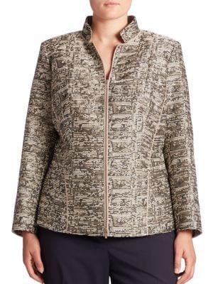 Panache Adley Tweed Jacket plus size,  plus size fashion plus size appare