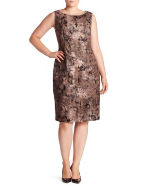Faith Essex Jacquard Dress by Lafayette 148 New York, Plus Size
