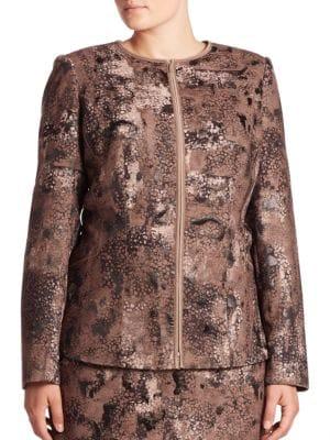 Maris Essex Jacquard Jacket by Lafayette 148 New York, Plus Size