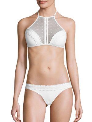 Zephyr Two-Piece Bonded Lace Bikini Top & Bottom plus size,  plus size fashion plus size appare