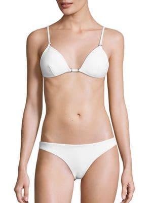 Zephyr Two-Piece Bonded Tri Bikini Top & Bottom plus size,  plus size fashion plus size appare