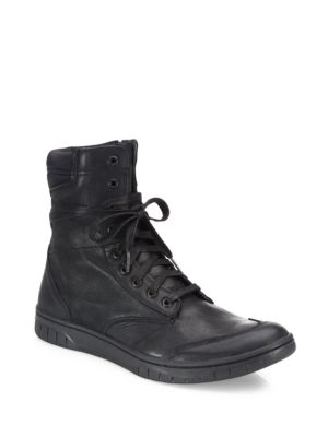 S-Boulevard Leather Ankle Boots