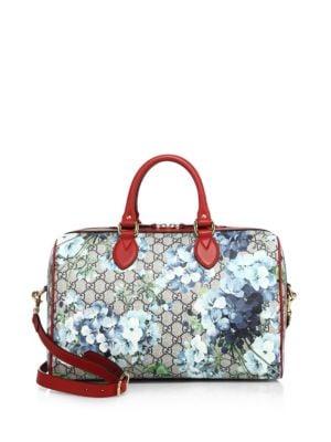 gucci female small gg blooms supreme boston bag