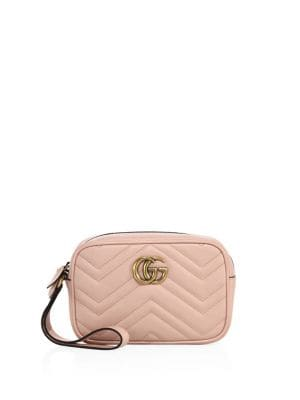 gucci female gg marmont matelasse leather pouch