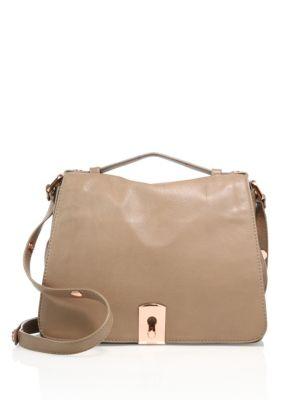 Medium Clinton Leather Messenger Bag