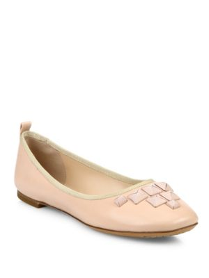 Cleo Studded Leather Ballerina Flats