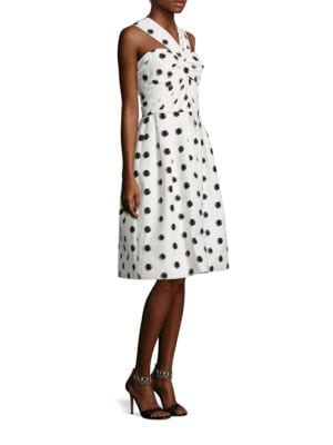 Silk Dot Halter Dress
