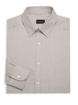 Regular-Fit Diamond Dress Shirt