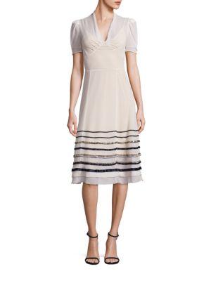 Silk Embellished A-Line Dress
