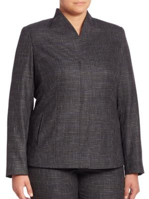 Carnet Mouline Blazer plus size,  plus size fashion plus size appare